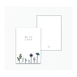 Mini / Kado kaartje - Bloemen