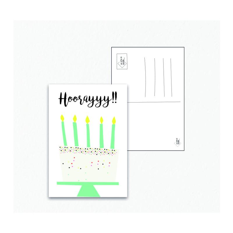 Hoorayyy - Ansichtkaart