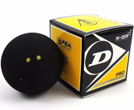 Dunlop dubbel geel squash bal