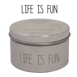 Soja kaars - Life is Fun
