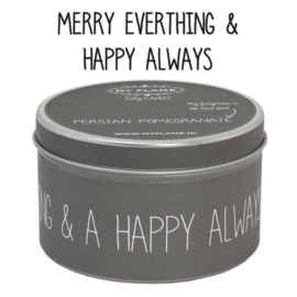 Geurkaars Merry Everything & Happy Always
