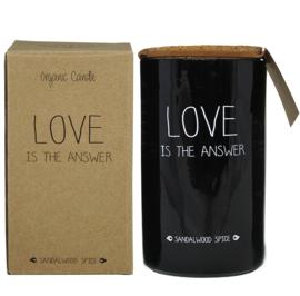 Geurkaars Love is the answer - Sandalwood