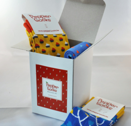 5 socks in a Pepper Socks box