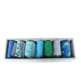 Wooden Week Pepper Socks Box