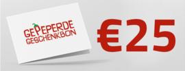 Gepeperde Geschenkbon | 25 euro