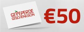 Gepeperde Geschenkbon | 50 euro
