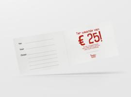 Gepeperde Geschenkbon   25 euro
