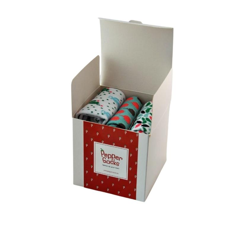 3 Socks in a Pepper Socks box