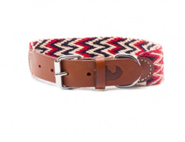 Peruvian Red - Halsband (L), Trainingslijn of als set