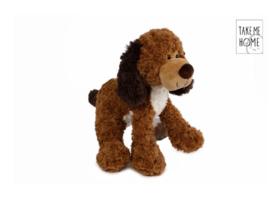 Pluche hond 2 kleuren - 33 cm