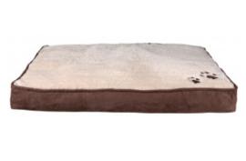 Kussen bruin/beige 60 x 40 cm