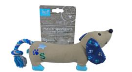 Lief! Boys Canvas Teckel - Hondenspeelgoed - Blauw - 25 cm