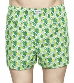 Boxershort Happy socks green Leaves