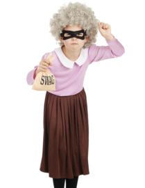 Burglar granny kostuum