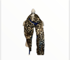 sjaal panther / blauw