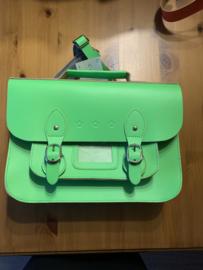 Pepper bags vintage look boekentasje groen medium