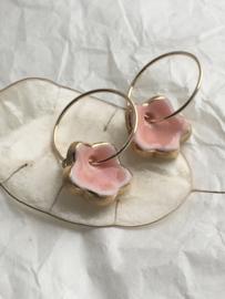 Grace oorringen - Pink