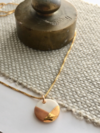 Gold filled ketting  50 cm Fonkel - Cappuccino