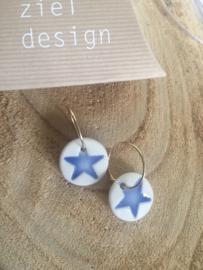 Oorring Stars -  Blauw
