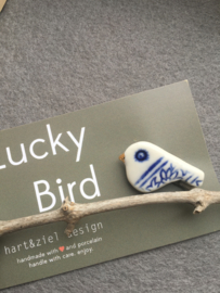 Lucky Bird - blauw/wit