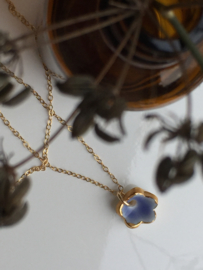 Gold filled ketting Flower