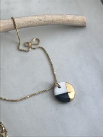 Gold filled ketting  45 cm Fonkel - zwart