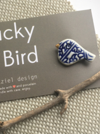 Lucky Bird - blauw/wit