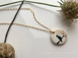 Gold filled schakelketting 'Birdy'