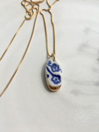 Gold filled ketting 45 cm 'Forget Me Not?' 2