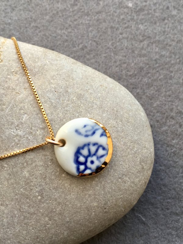 Gold filled ketting 45 cm 'Forget Me Not?'