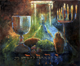 Psalm 23 - 'THE LORD IS MY SHEPHARD' - original size 120-100 cm