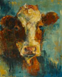 Koe - reproductie op kunstposter