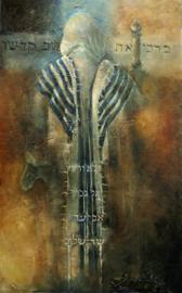 Psalm 103 - ' Loof Zijn Heilige Naam' - origineel 160-100 cm