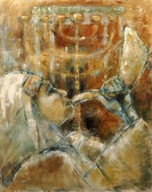 Psalm 134 - 'Zegenbede' - origineel 100-80 cm