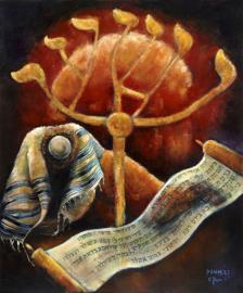 Psalm 27 - 'Mijn Licht en mijn Heil' - origineel 120-100 cm
