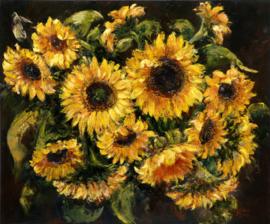 Zonnebloemen - reproductie op kunstposter