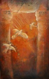 Psalm 118 - ' De Poort' - origineel 160-100 cm