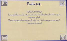 Kaart met toelichting psalm 134