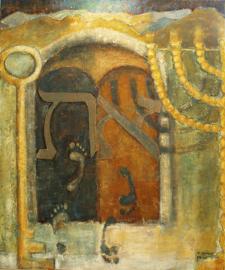 Psalm 121 -' De Wachter' - origineel 120-100 cm
