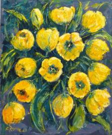 Tulpen Geel - reproductie op kunstposter