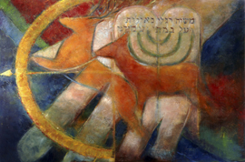 Psalm 18 - ' Als die der hinden' -  origineel 100-150 cm