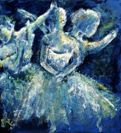 Ballerina's - reproductie op kunstposter