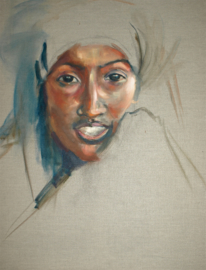 Vrouw Midden Oosten -1 - reproductie op kunstposter