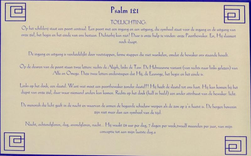 Kaart met toelichting psalm 121