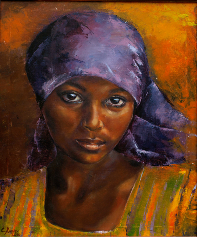 Ethiopian girl - reproduction on art poster