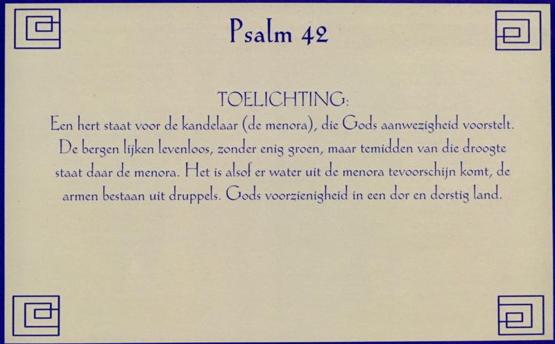 Kaart met toelichting psalm 42
