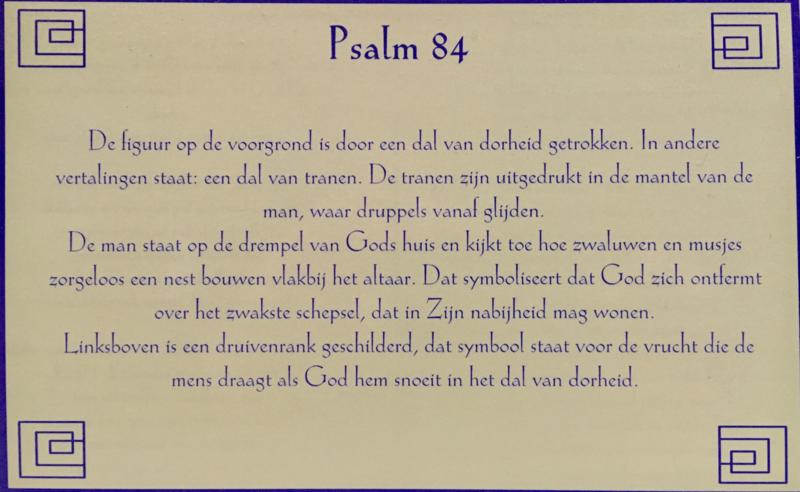 Kaart met toelichting psalm 84
