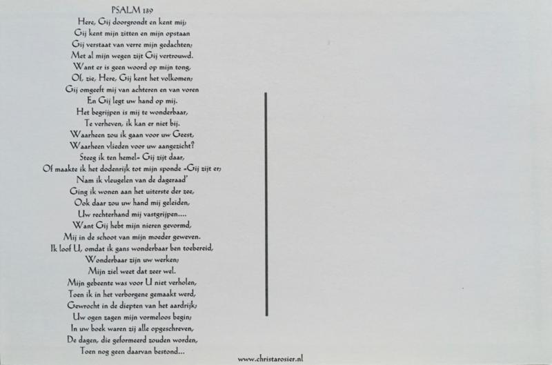 Kaart met toelichting psalm 139