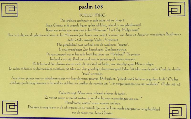 Kaart met toelichting psalm 103