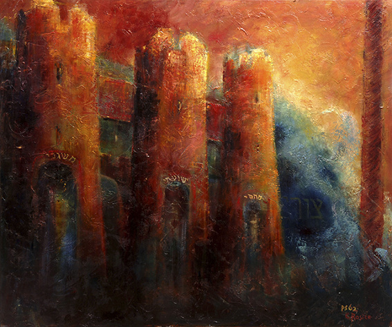 Psalm 62 - 'THREE TOWERS' - original size 100-120 cm